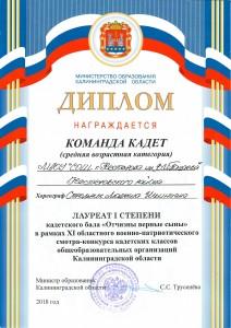 диплом кадеты