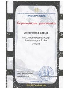 Анисимова Дарья 4