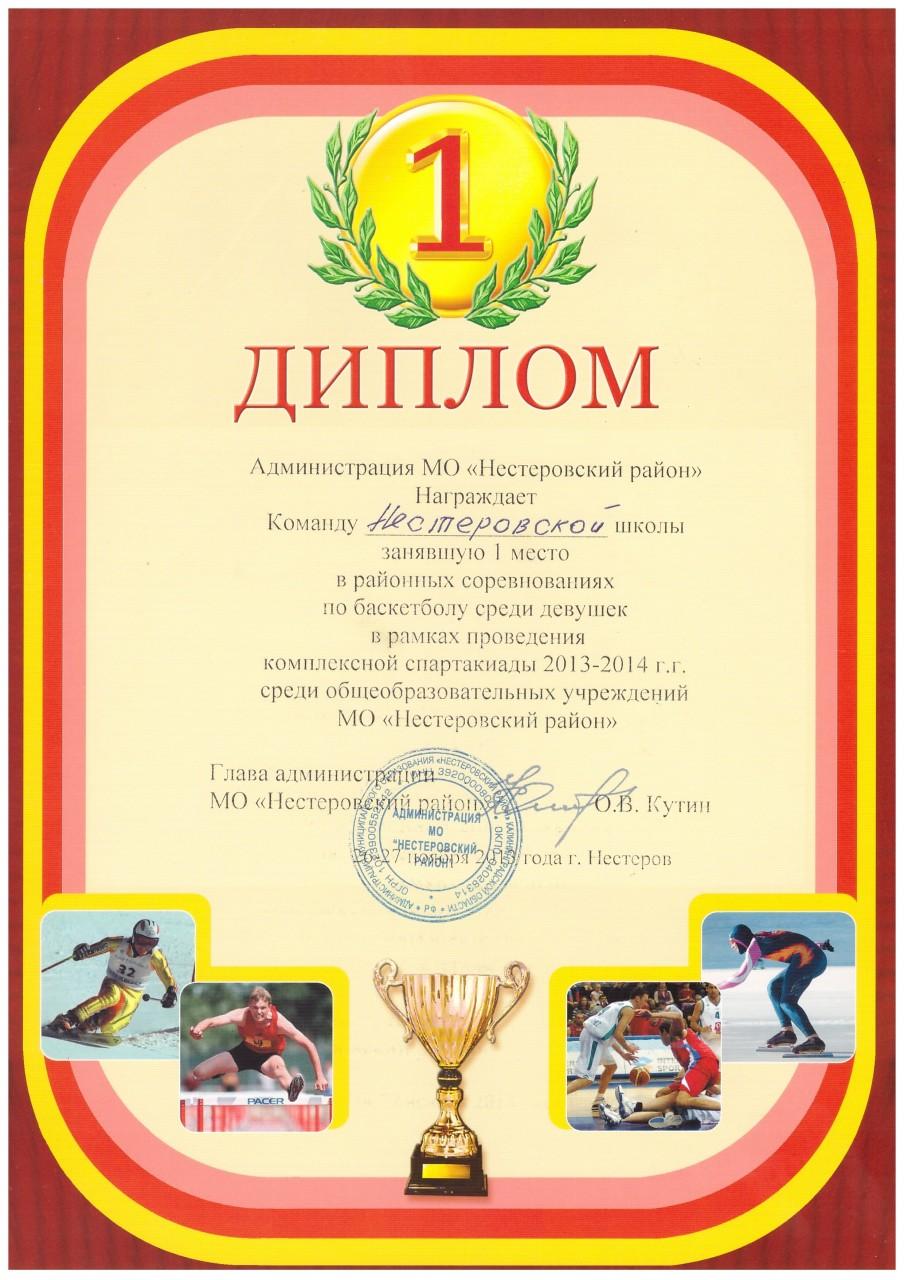 2013-14 баскетбол девушки 1 место-min