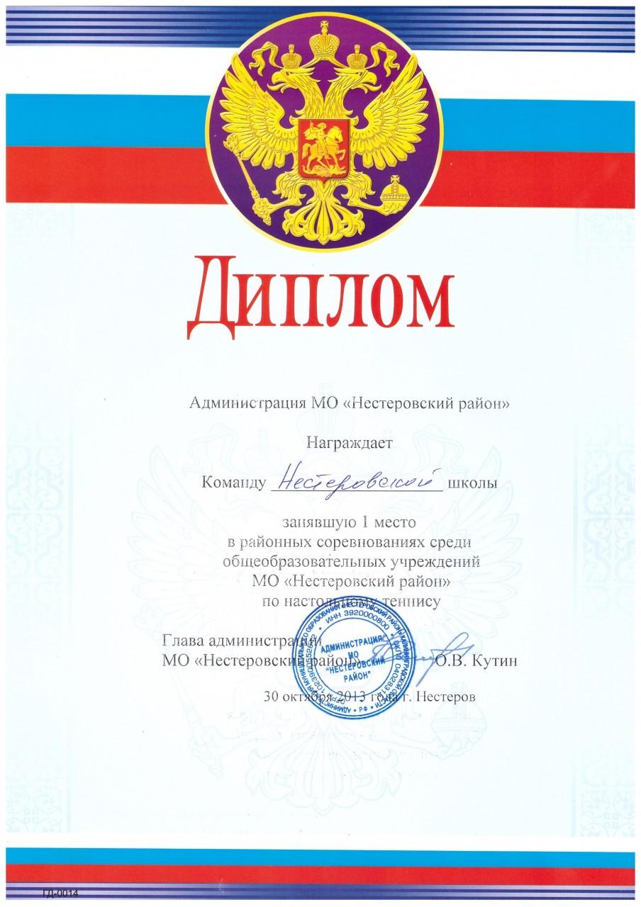 2013-14 настольный теннис 1 место-min