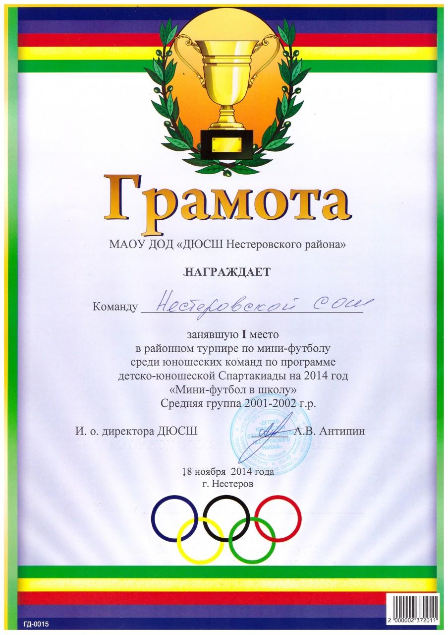 2014-15 мини-футбол ср.гр. 1 место-min