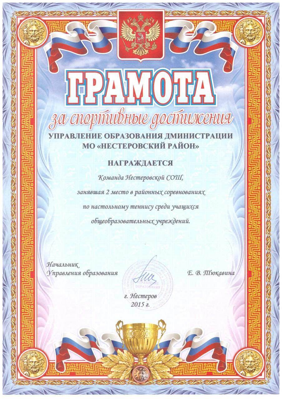 2015-16 настольный теннис 2 место-min