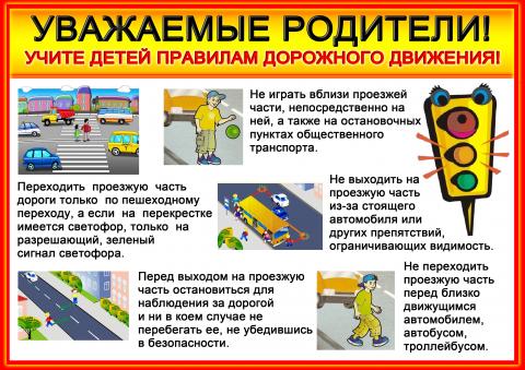 Памятка для родителей по безопасности дорожного движения