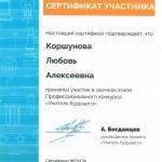 Сертификат Учитель будущего