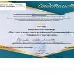 Сертификат межрегиональный семинар 2017