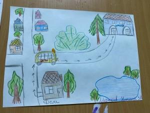Выставка рисунков Мой безопасный путь в школу (2)