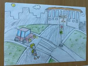 Выставка рисунков Мой безопасный путь в школу (4)
